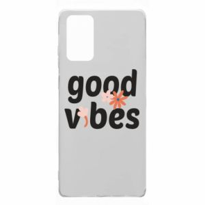 Samsung Note 20 Case Good vibes flowers