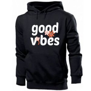Męska bluza z kapturem Good vibes flowers