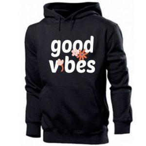 Bluza z kapturem męska Good vibes flowers