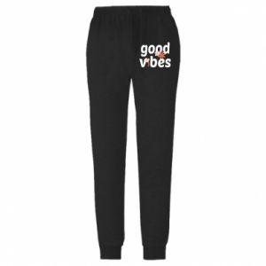 Męskie spodnie lekkie Good vibes flowers