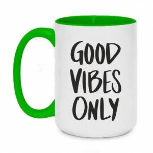 Two-toned mug 450ml GOOD VIBES ONLY