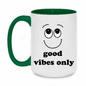 Kubek dwukolorowy 450ml Good  vibes only