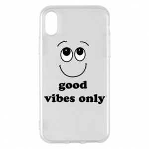 iPhone X/Xs Case Good  vibes only
