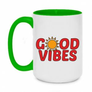 Kubek dwukolorowy 450ml Good vibes sun