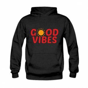 Kid's hoodie Good vibes sun