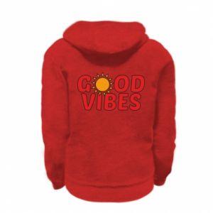 Kid's zipped hoodie % print% Good vibes sun