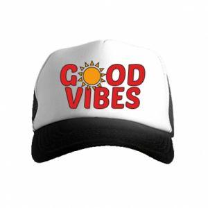 Kid's Trucker Hat Good vibes sun