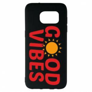 Samsung S7 EDGE Case Good vibes sun