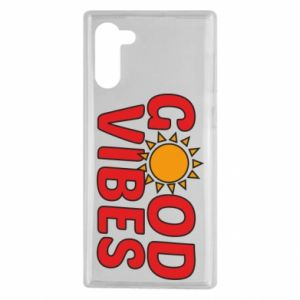 Samsung Note 10 Case Good vibes sun
