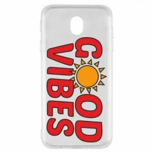 Samsung J7 2017 Case Good vibes sun