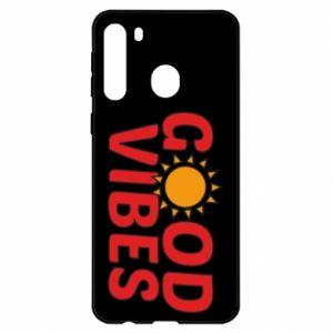 Samsung A21 Case Good vibes sun