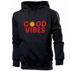 Men's hoodie Good vibes sun