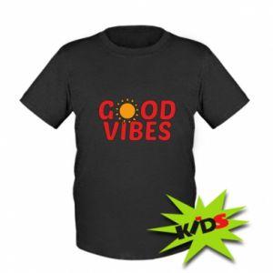 Kids T-shirt Good vibes sun