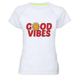 Women's sports t-shirt Good vibes sun