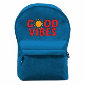 Backpack with front pocket Good vibes sun