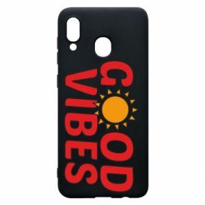 Samsung A30 Case Good vibes sun