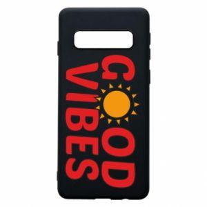 Samsung S10 Case Good vibes sun
