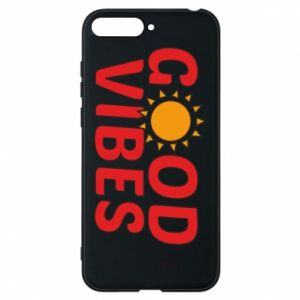 Huawei Y6 2018 Case Good vibes sun