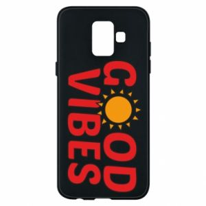 Samsung A6 2018 Case Good vibes sun