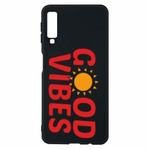 Samsung A7 2018 Case Good vibes sun