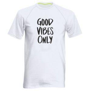 Męska koszulka sportowa GOOD VIBES ONLY