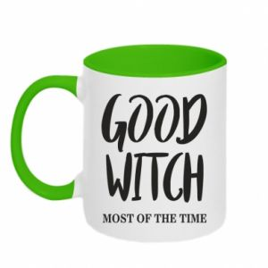 Two-toned mug Good witch most of the time