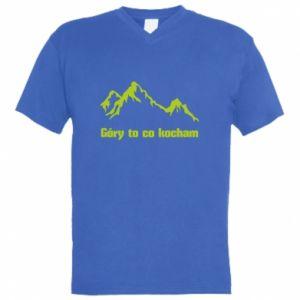 Męska koszulka V-neck Góry to co kocham