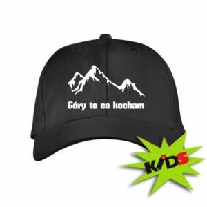 Dziecięca czapeczka z daszkiem Góry to co kocham
