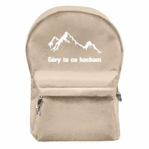 Plecak z przednią kieszenią Góry to co kocham