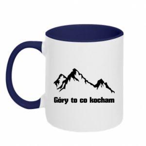 Two-toned mug Mountains What I love