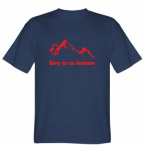 T-shirt Mountains What I love