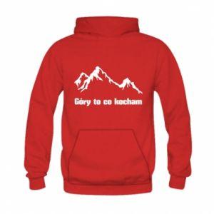 Bluza z kapturem dziecięca Góry to co kocham