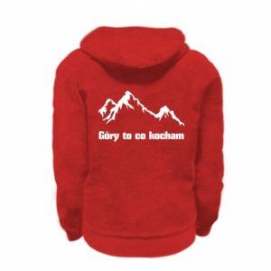 Bluza na zamek dziecięca Góry to co kocham