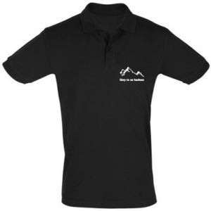 Men's Polo shirt Mountains What I love