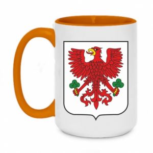 Two-toned mug 450ml Gorzow Wielkopolski coat of arms