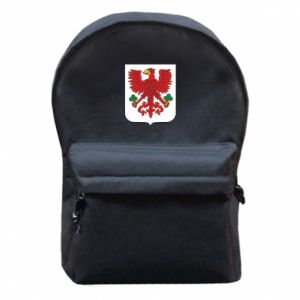 Backpack with front pocket Gorzow Wielkopolski coat of arms