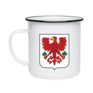 Enameled mug Gorzow Wielkopolski coat of arms