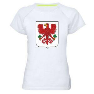Women's sports t-shirt Gorzow Wielkopolski coat of arms