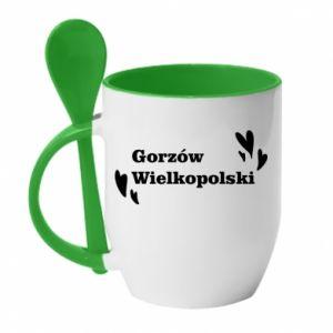Kubek z ceramiczną łyżeczką Gorzów Wielkopolski