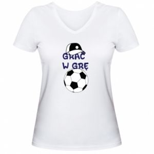 Women's V-neck t-shirt Play a game