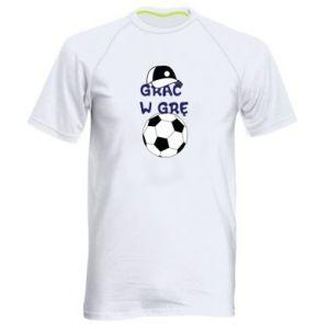 Koszulka sportowa męska Grać w grę