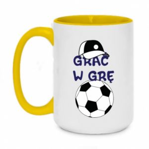Two-toned mug 450ml Play a game