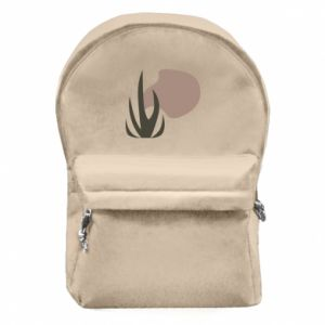 Backpack with front pocket Grass on blur background