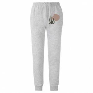 Męskie spodnie lekkie Grass on blur background