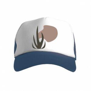 Kid's Trucker Hat Grass on blur background