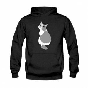 Bluza z kapturem dziecięca Gray cat with big eyes