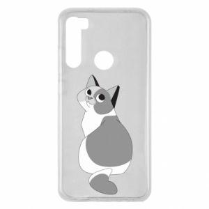 Etui na Xiaomi Redmi Note 8 Gray cat with big eyes