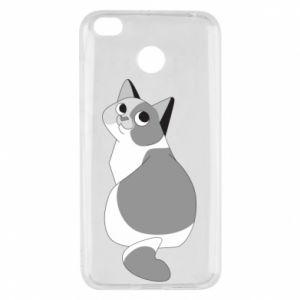 Etui na Xiaomi Redmi 4X Gray cat with big eyes