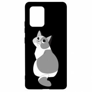 Etui na Samsung S10 Lite Gray cat with big eyes