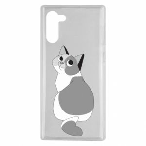 Etui na Samsung Note 10 Gray cat with big eyes